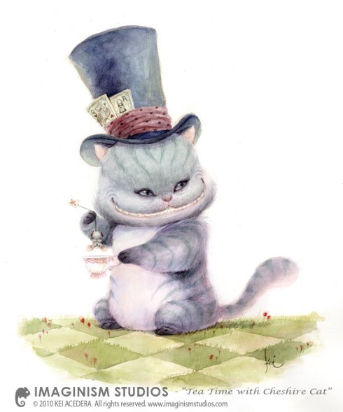 Tea Time with Cheshire Cat by imaginism