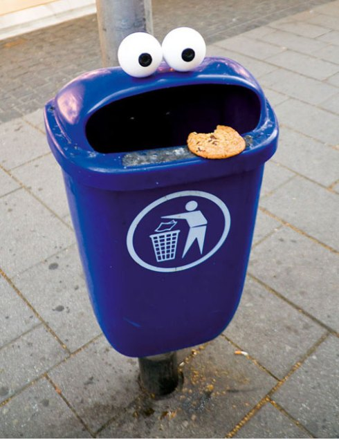 Cookie Monster Trash Can