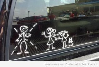 Single  Mom sticker family