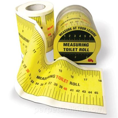 Measuring Toilet  Paper